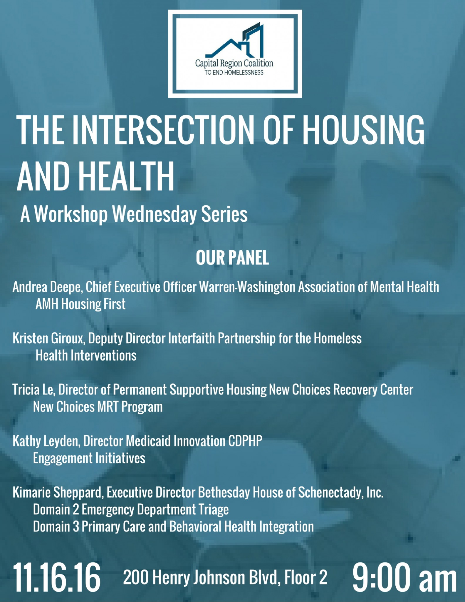 workshop wednesday intersection between housing and health