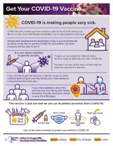 OPWDD covid-19 Vaccine flyer